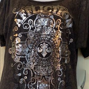 NWT Affliction open shoulder Marquis